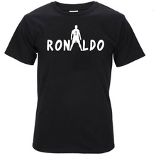 2017 summer C Lo Number 7 Free ball silhouette T shirt Real Madrid Cotton madred  T-shirt S172