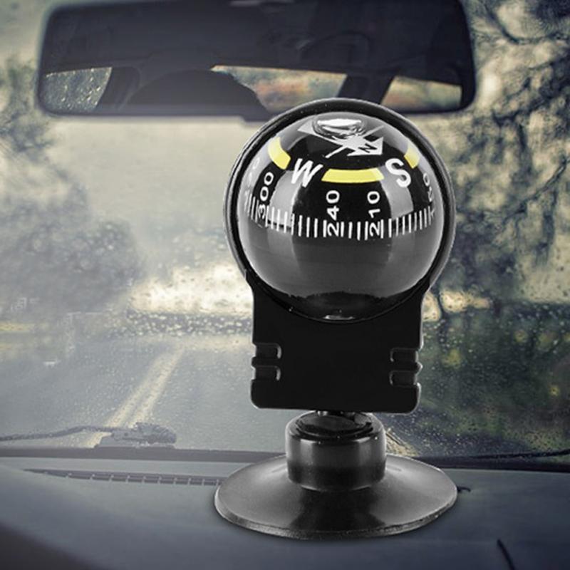 Fas Mini Black Car Dashboard Boat TRUCK Suction Pocket Navigation Compass Mount