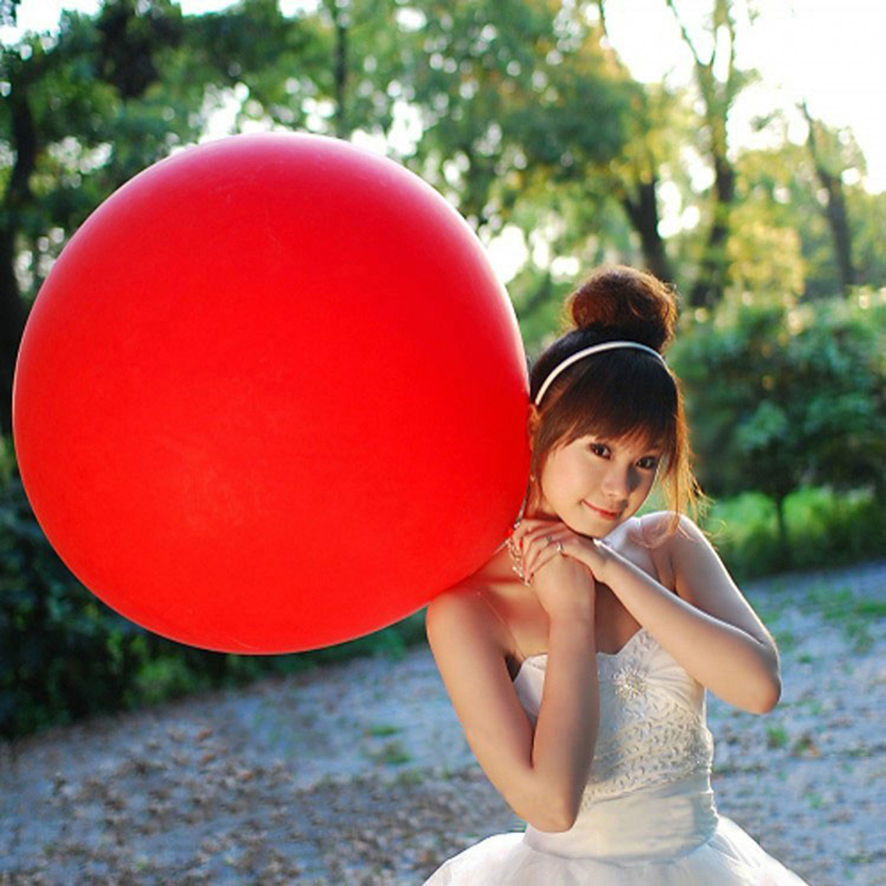 36 Inch Giant Balloon Colorful Blow Up Ball Balloon Helium Inflable Latex  Balloon For Wedding Birthday Party Decoration