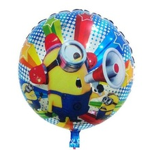 High quality 20pcs/lot foil balloon minions balloons for birthday party despicable me happy birthday decoration kids toys