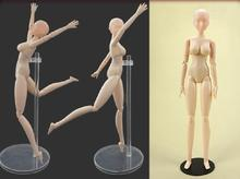 28cm sketch drawing cartoon mannequin female model plastic manikin model with stand free shipping
