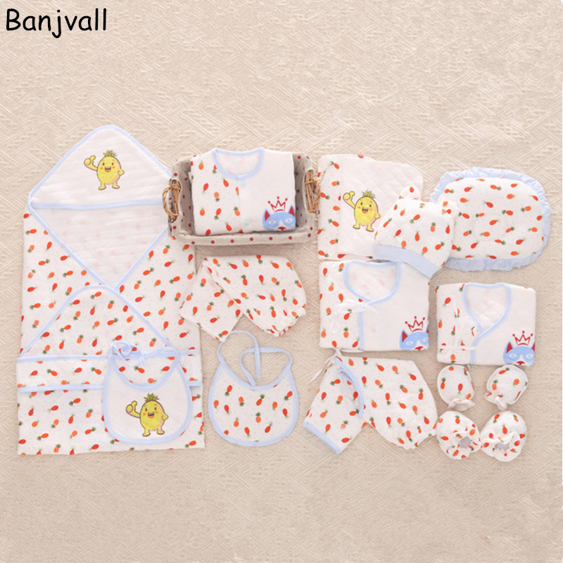 17 Pieces/set Newborn Baby Clothing Gift Set Underwear Suits 100% Thick Warm Infant  ClothingSet 2017 New Arrival Fashion Style<br>