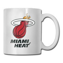 Miami Basketball Logo coffee mug japanese men tazas ceramic tumbler caneca tea Cups