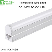 50X 12V led tube 24V tube T8 12 volt 24 volt 18W 1200mm 4ft light solar power Integrated tube lamps light(China)