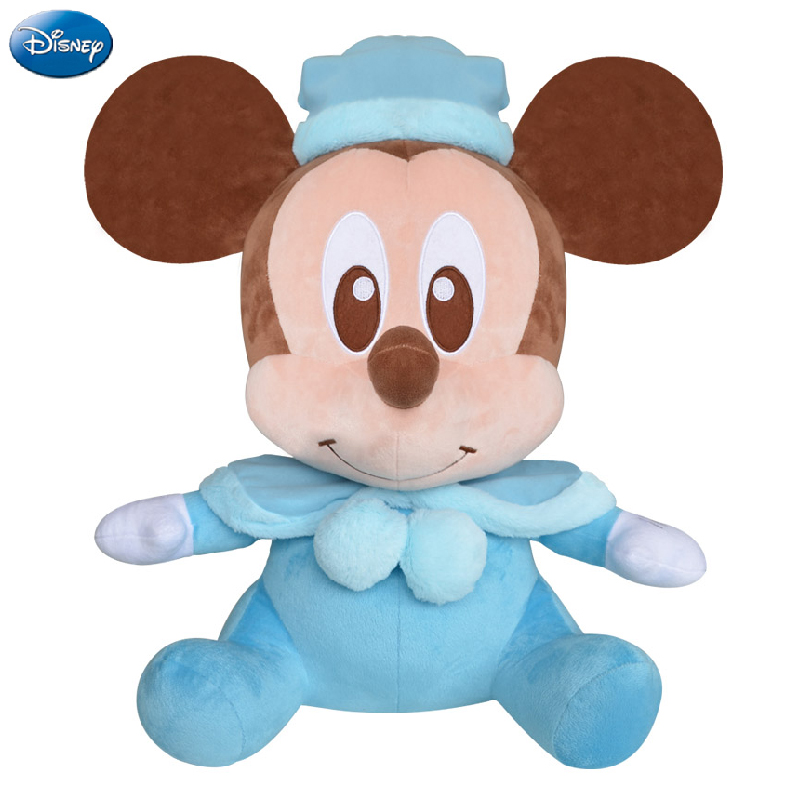 Disney Brand Shawl Mickey Mouse Minnie Cotton Kawaii Plush Stuffed Animal Toys Doll Christmas Gift Toys for Baby Boys Girls Kids(China)