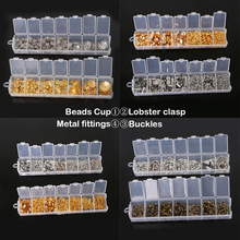 Mix 100-300pcs/Box Lobster/Jumper Rings/Hooks crimp Ends/Beads Cups Chian Tassel Findings Accessories DIY Fashion Jewelry