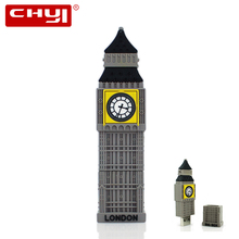 CHYI USB 2.0 Flash Drive Creative Pen Drive Big Ben Shape Flash Disk 8GB 16GB 32GB 64GB USB U Disk PC Gift Memory Stick Pendrive