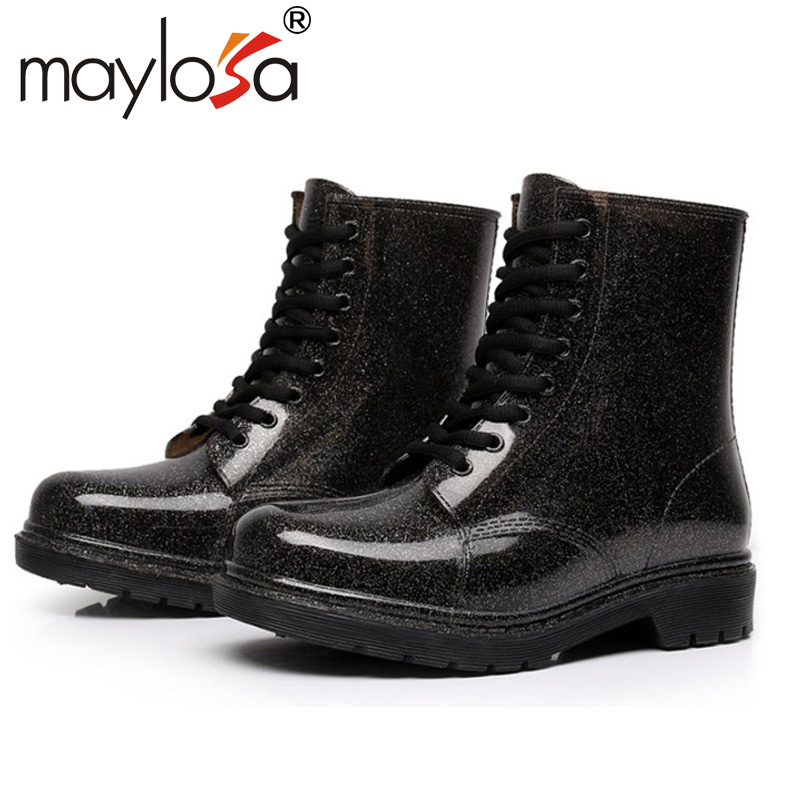 New fashion boots girls Martin boots overshoes slip tube water in autumn and winter leisure ladies shoes<br><br>Aliexpress