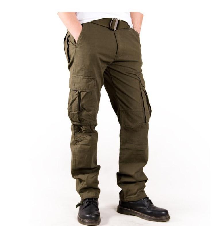 New High-End Multi-Pockets Cargo Pants Mens Overall Full-Length Fashion Trousers Military Camo Style Mens Loose TrousersÎäåæäà è àêñåññóàðû<br><br>
