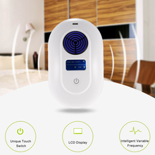 EU Plug Electronic Ultrasonic/Electromagnetic Wave Pest Repeller Mouse Rat Repellent Pest UV Light 8 Stage of Frequency