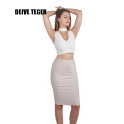 DEIVE TEGER Wholesale pencil skirt New Bandage Skirt Women Knee-Length Skirts 11 Colors 60cm  HL1186
