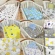 Children Kid Crib Fitted sheets Soft Cotton Comfort Cartoon Printed Cot Bed Sheets