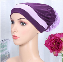 Islamic Scarves Wraps Hijab caps Womens 2017 New Designer Muslim All Inclusive Cap Curved Optional Women Muslims Hat(China)