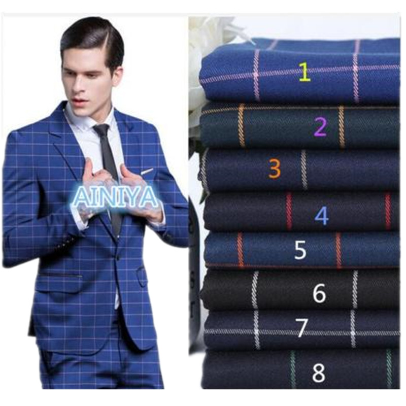 39.1 Fashion high-quality lapel single-breasted Slim blue stripes formal best men\'s tuxedo and men\'s business suits custom made