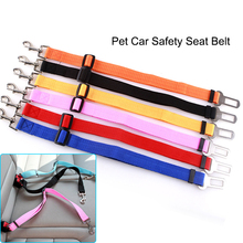 Adjustable Dog Pets Car Safety Seat Belt Harness Restraint Lead Adjustable Travel Clip Per Products - 7 Colors(China)