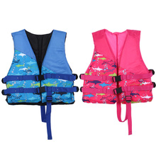 Water Sports Outdoor Polyester Kids Life Jacket Universal Swimming Boating Ski Vest Survival Suit Children Inflatable Swimwear