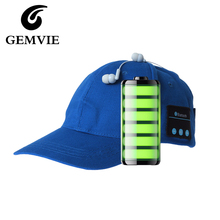 100% Cotton Wireless Bluetooth Baseball Cap Earphone Bluetooth Music Snapback For Women And Men Casual Caps 5 Colors(China)