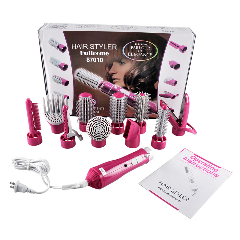 2016 Promotion Hair Dryer Hair Roller Electric 10 In1 Multifunctional Hair Curlers Styling Tools Sticks Dryer set Hair Salon<br>