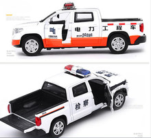 1:32 alloy pull back car toy, high simulation Toyota Tundra pickup, metal casting,music&flash, free shipping(China)