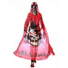 2017 Women Novelty Hoody Poncho Chiffon Peacock Halloween Skull Printed Scarf Ponchos and Capes Shawl Wrap for Female Pashmina