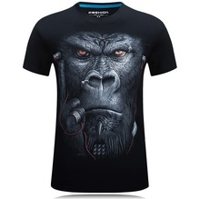 Buy 20 style S-6XL 3D T-shirt Mens Hot 2017 Summer Animal Snake Tiger Wolf Lion Printed T-shirts Men Cotton Casual Brand T shirt for $6.88 in AliExpress store