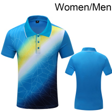 New Sportswear Quick Dry breathable Tennis shirt , Women / Men table tennis shirt team game blue POLO T Shirts 1005