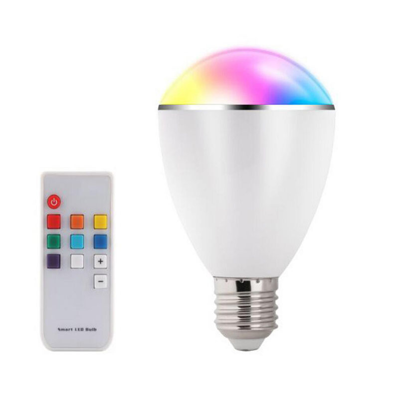 BL07R LED RGB Bulb E27 6W Smart Lamp Magical 7 Colors Light with Remote Control Home Illumination AC100-240V 10pcs/lot<br><br>Aliexpress