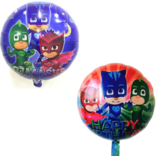 10 pieces 18 inches PJ MASKS foil balloons kids toys superman globos birthday party decorations kids air balloon party supplies(China)