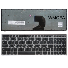 Ru gray New English Replace laptop keyboard For Lenovo Z500 Z500A Russian