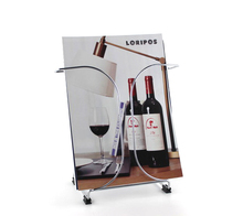 A4 metal literature flyer brochure holder display floor stand information frame exhibition advertising display showing rack(China)