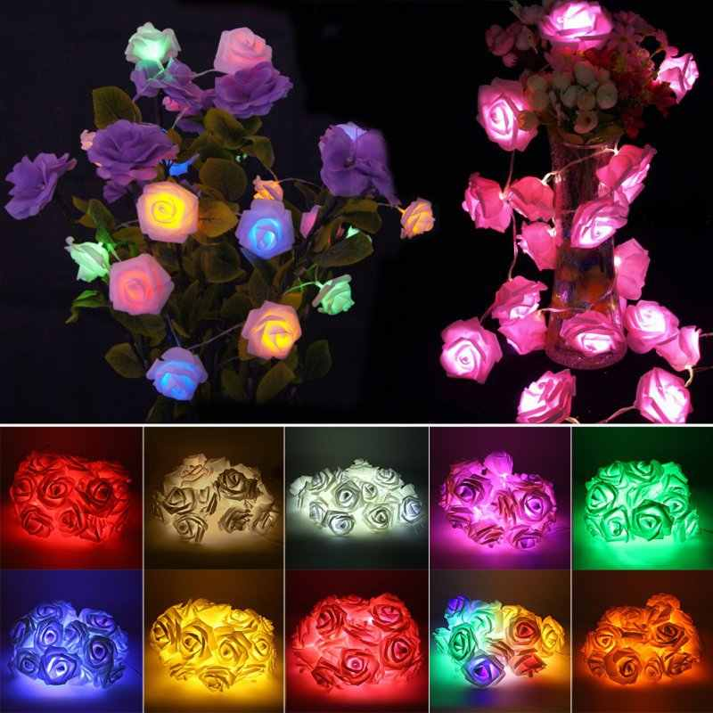 10 Colors Rose String Light LED Festival Fairy Lights For Christmas Party Wedding Decoration