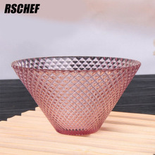 Color Diamond Glass Kitchen Bowl Concise And Exquisite(China)