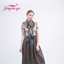 [Jinjin.QC] Thailand style elephant printed cotton scarf for women spring vintage ethnic scarves & shawls echarpe foulard femme(China)