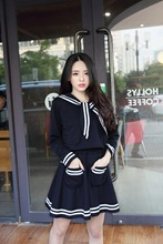 New Arrival Janpanese Style Navy Sailor Design School Uniforms Female Students Clothes Sets School Girls Cosplay Suits(China)