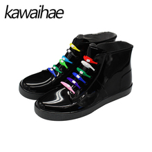 2017 Autumn Winter Round Toe Rain Shoes Women Boots Rubber Shoes Casual Waterproof Brand Kawaihae