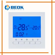 BOT-313W Programmable Battery Power Room Digital Thermostat for Gas Boiler Heating Temperature Control Wall Mounted Thermostat