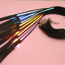 Fashion Pets Dog Safety Collar 8 Colors LED Leash Rope Belt Flashing Harness Lead Light Black Nylon H1