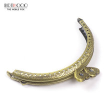 10.5cm Arch Metal Purse Frame Handle for Clutch Bag Handbag Accessories Making Kiss Clasp Lock Antique Bronze Tone Bags Hardware(China)