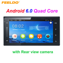 7inch Ultra Slim Android 6.0 Quad Core Car Media Player With GPS Navi Radio For Toyota Universal 2DIN Corolla + Rear view Camera