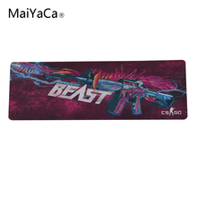 Hyper Beast Game Mouse Pad XL 900 * 400mm For CS Games CS DIY DIY super photos Enlarge Border Block size 900mm rushed(China)