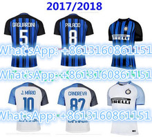 2017 HOT SALES 2018 football jerseys QUALITY ADULT INTER MILANES SOCCER JERSEY 17 18 HOME RED AWAY GRAY MEN SHIRT(China)