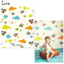Cartoon Airplane Vinyl  Photography Background Backdrop For New Fabric Flannel Background For Newborn photo studio Props 2052
