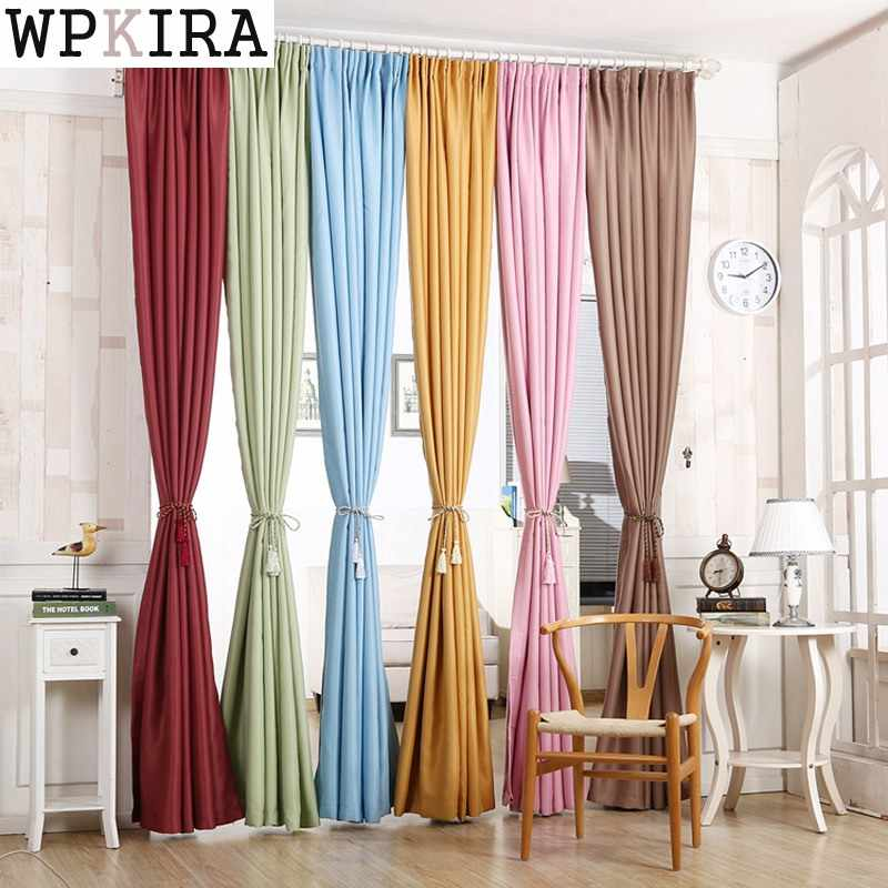 Green curtain thick Blackout Short Blue Curtains for bedroom Blinds Cloth Living Room Pink Curtains Window Drapes wp349&30