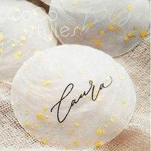 Cocostyles Angepasst Schöne Weiß Shell Gast Name Karte Mit Hand Schreiben  Für Strand Hochzeit Einladung Karte