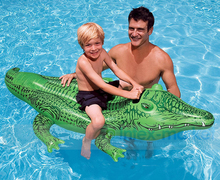 2016 High Quality Brand New PVC Inflatable Crocodile Pool Floats 168*86CMSummer Children Pool Toys Water Toys For Kids(China)