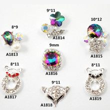 wholesale rhinestone alloy accessories Holiday Party Popular style High-grade Fox Flower Flame diamond small rivets nail art(China)