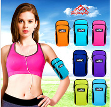 Hwjianfeng 002-L Neoprene Adjustable Cycling Running Arm Bag Wrist Bag For Mobile Phone Case Gym Sport Running Bag Arm Package