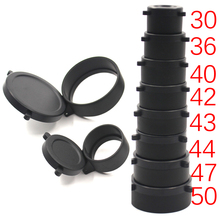 1Pc 30mm-57mm Rifle Scope cover Quick Flip Spring Up Open Lens Cover Cap Eye Protect Objective Cap Hunting Gun Caliber Mount