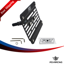 PQY RACING - FREE SHIPPING Multi Angle Tow Hook Mount PQY License Plate For Honda Civic EG EK ES FD with PQY Sticker PQY-LPF02(China)