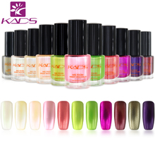 KADS New 9.5ml Two in one Pearl light Nail Stamping Polish 11 colors Optional Stamping Nail Polish For Nail Art Brand(China)